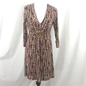 Anthropologie Molly Brown Orange Print Dress M